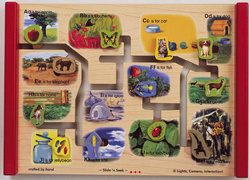 Lights Camera Interaction Wooden Puzzles Wooden Food Sets